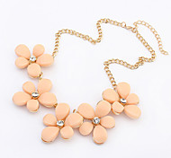 Necklace Choker Necklaces Jewelry Casual Fashion Alloy / Resin Light Blue / Beige / Black / Pink 1pc Gift