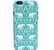 tampa traseira duro elefante azul de plástico padrão de corte de papel para iphone 6