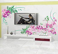 Natural Purple PVC Wall Stickers Wall Art Decals