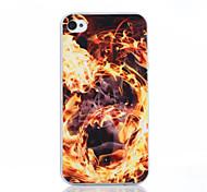 ardente modello di drago materiale TPU soft phone per iphone 4 / 4s