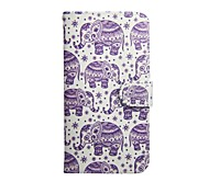 Mandala Elenphant Graphic Photo Frame Slot PU Leather TPU Full Body Bumper Cases with Stand for Alcatel One Touch Pop C7