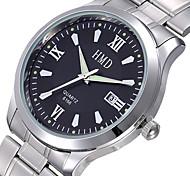 vendre comme des petits pains! robe calendrier quartz montre de montre en acier inoxydable montres de marque des hommes d'affaires pour