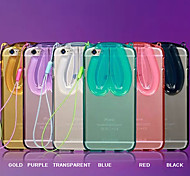 Lovely Transparent Rabbit Ears Protective Case for iPhone 5/5S(Assorted Colors)