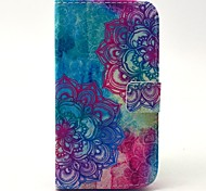 Beautiful Mandala Flower Pattern PU Leather Stand Case with Card Slot for Samsung Galaxy S4 I9500