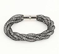 Vilam® Mesh Stardust Bracelets With Crystal stones Filled Megnetic Clasp Four Layers Bracelets