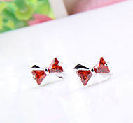 High Quality Fashion Women Bow Shape Zircon Earrings