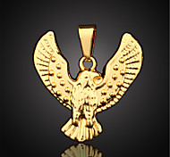 Vilam® Figaro Eagle 18K Gold Plated CC Color High Quality Uneasy Fade Pendant 1pc
