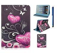 7.9 Inch Love Pattern PU Leather Case with Stand and Pen for iPad mini 1/2/3