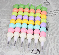 Colorful Ice Sugar Gourd Shape Neutral Pen (Random Color)