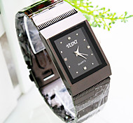 mesa de aço embutidos marcação diamante quadrado relógio de quartzo de negócios de moda masculina