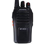 Новый Baofeng Walkie Talkie 16 каналов 5W UHF BF-666s двусторонней радиосвязи домофон трансивер мобильного рации (черный)