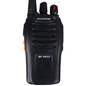 New baofeng walkie talkie 5W 16CH UHF BF-666S two-way Radio Interphone Transceiver Mobile walkie-talkie (Black)