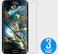 (3 pcs)  Clear Screen Protector Film for Samsung Galaxy S6 Edge
