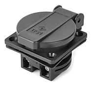 S220EC DIY EU Power Socket w/ Cover - Black