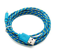 3M 9.8ft Micro USB Charging and Data Sync Cord Cable Fabric Braided Woven for Samsung HTC Android Devices Assorted Color