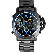 Kaletco®Men's Dual Time Zones Colorful LED Multifunction Sports Wrist Watch 30m Waterproof(Assorted Colors)