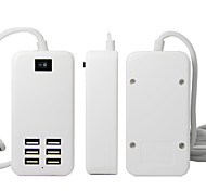 6 USB Ports EU Plug Power Adapter Charger with Display