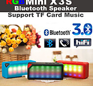 RGB LED Flashing X3 MiNi Wireless Bluetooth Speake Audio Music Speaker white Mic TF FM RGB for for Samsung S6 S5 S4