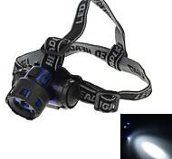 8203b 2w 90lm 1-Modo 1 llevada lámpara cabezal de la lámpara blanco - azul oscuro + negro (3 x AAA)