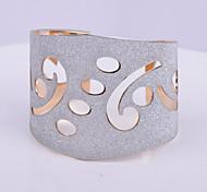D Exceed Women's Bracelet Jewelry Gold /Silver Plated Wide Bracelet Irregular Hollow Out Scrub Handmade Cuff Bracelets