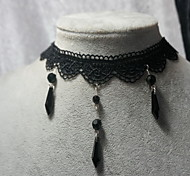 Lolita Jewelry Gothic Lolita Necklace Victorian Black Lolita Accessories Necklace Lace For Women Lace