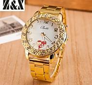 Women's Fashion Diamond Love Heart Quartz Analog Steel Belt Watch