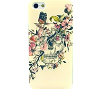 Butterfly Skull Pattern TPU Soft Case for iPhone 5/5S