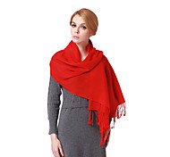 Women's Solid Color Pure Wool Scarf