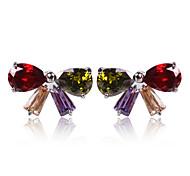 High Quality Fashion Women Big Butterfly Zircon Earrings