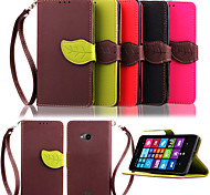 KARZEA™ Leaf Mixed Colors TPU Leather Full Body With Stand and Stylus for  	Microsoft Lumia 535 (Assorted Colors)