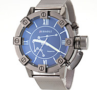 Herren-Wassermann-Muster schwarz Stahlband-Quarz-Armbanduhr