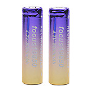Focus 4.2V 8000mAh 18650 Rechargeable Lithium Ion Battery(2pcs)