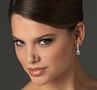 Fashion Wedding Party Birde Crystal Silver Earring