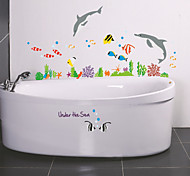 Cartoon Underwater Dolphins PVC Wall Stickers Wall Art Decals