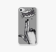 POW Pattern PC Back Case for iPhone4/4S