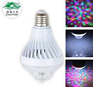 Zweihnder E27 7W 600LM 5500-6000K 17xLEDs RGB Light Bulb Light (new products,AC 85-265V,1Pcs)