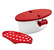 Pasta Boat ON Steam Rack Built in Strainer Cooking Perfect Pasta Every Time