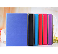 Metal Wire Drawing Lines Card Wallet Leather Case Stand Cover for Apple iPad 2/3/4(Assorted Colors)