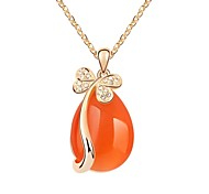 Weeping of Butterfly Lady's Short Necklace Plated with 18K Champagne Gold Sun Crystallized Austrian Crystal Stones