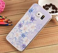 3d de nuevo caso de joya cubierta samsung galaxy s6 flor blanca