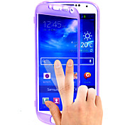 Transparent Flip Free Turn Touch TPU Phone Case for Samsung S4 I9500 (Assorted Colors)