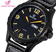 Fashion Casual Watch Calendar SKONE Brand Leather Watches Men Luxury Watch Big Number Student Qaurtz Wristwatches Cool Watch Unique Watch