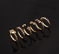 Bow Stars Lover Love Crystal Midi Rings Ring Set(1 Set)