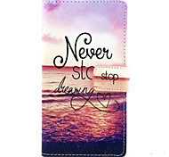 For Nokia Case Wallet / Card Holder / with Stand Case Full Body Case Word / Phrase Hard PU Leather NokiaNokia Lumia 830 / Nokia Lumia 640