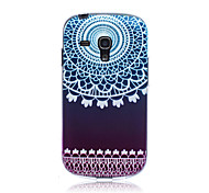Gradient Lace Flowers Pattern TPU Soft Back Cover Case for Samsung S3 Mini I8190N
