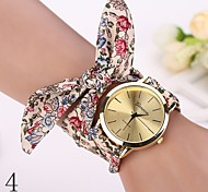 new  Fashion Watches Women Dress Watch Wristwatch Girl Bow Cloth Strap Nationality