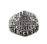 "Retro Ren's Titanium Steel Ring with""HARLEY-DAVIDSON SINCE 1903""(1PCS) Jewelry"