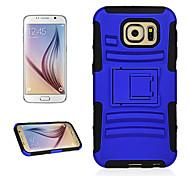 angibabe 2 en 1 con diseño deslizante con soporte de silicona + caso de la cubierta plástica del teléfono de la PC para Samsung s6 galaxia