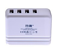 Four USB Ports 5A Power Adapter Compatible with Apple Samsung and Other Digital Products Charge Equipment