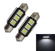Festoon Luz de Decoração 3 SMD 5050 60-70lm lm Branco Frio DC 12 V 2 pçs